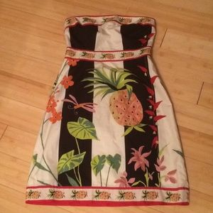 J Crew Strapless Pineapple Dress